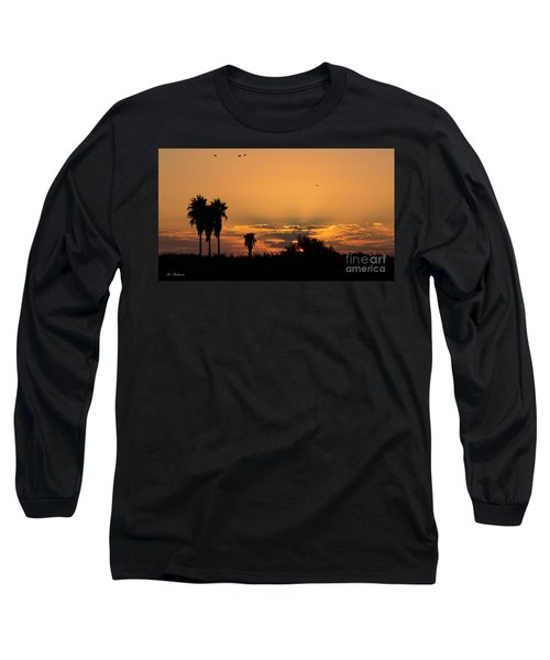 Long Sleeve T-Shirt featuring the photograph  African Style Sunset 02 by Arik Baltinester