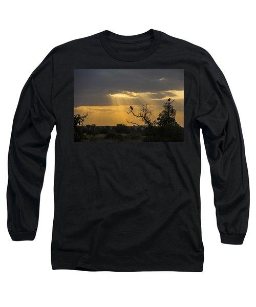 African Sunset 2 Long Sleeve T-Shirt by Kathy Adams Clark