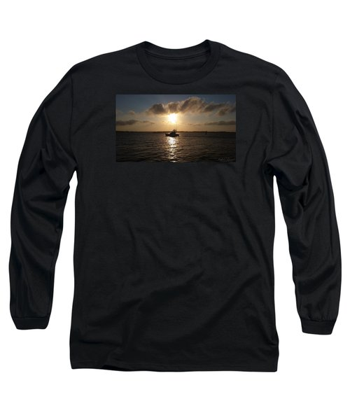 After A Long Day Of Fishing Long Sleeve T-Shirt by Robert Banach