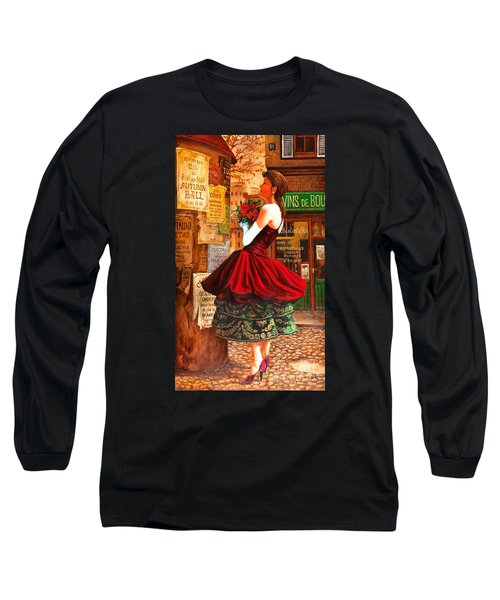 Long Sleeve T-Shirt featuring the painting After The Ball by Igor Postash