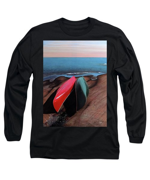 Long Sleeve T-Shirt featuring the painting After The Crossing by Kenneth M Kirsch