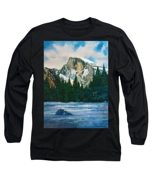 After The Snowfall, Yosemite Long Sleeve T-Shirt by Douglas Castleman