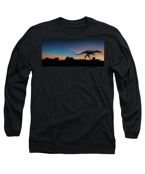 Afterglow Dinosaur Long Sleeve T-Shirt by Gary Warnimont
