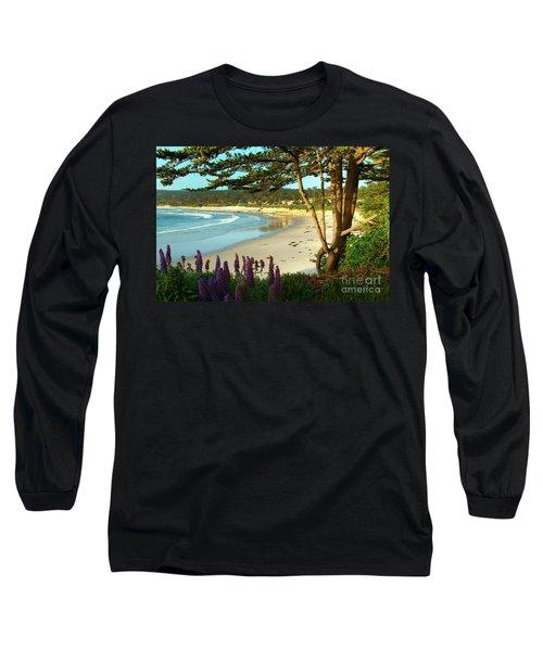 Afternoon On Carmel Beach Long Sleeve T-Shirt