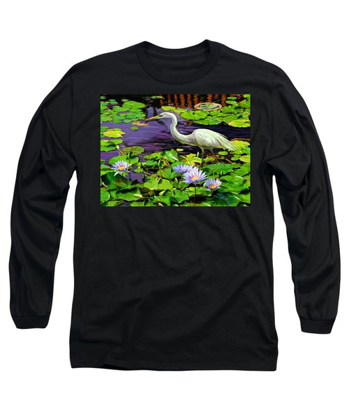 Long Sleeve T-Shirt featuring the painting Afternoon Snack by David  Van Hulst