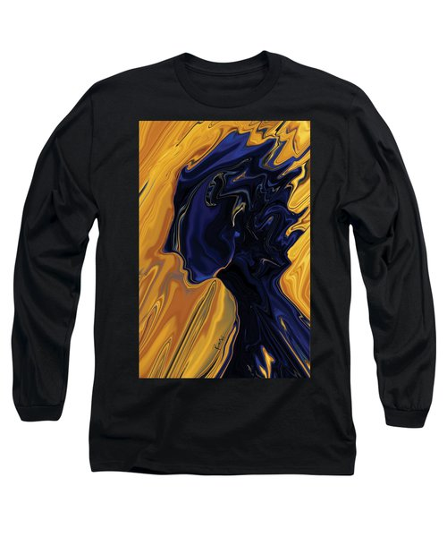 Long Sleeve T-Shirt featuring the digital art Against The Wind by Rabi Khan