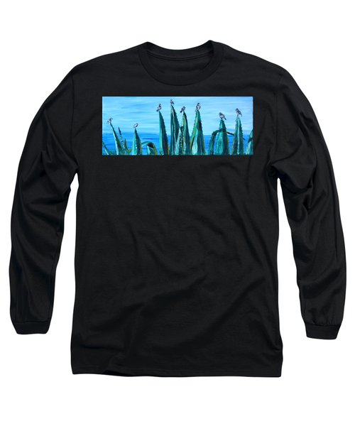 Agave With Sparrows Long Sleeve T-Shirt