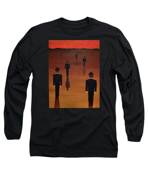 Agents Orange Long Sleeve T-Shirt by Thomas Blood