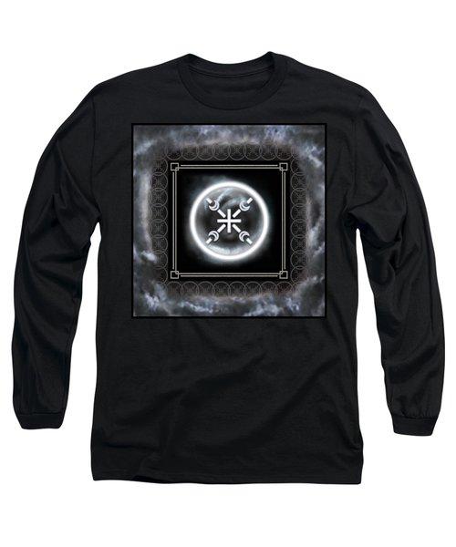 Long Sleeve T-Shirt featuring the digital art Air Emblem Sigil by Shawn Dall