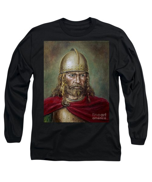 Alaric The Visigoth Long Sleeve T-Shirt by Arturas Slapsys