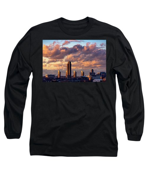 Albany Sunset Skyline Long Sleeve T-Shirt