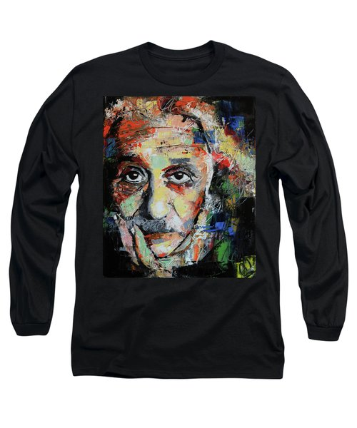 Albert Einstein Long Sleeve T-Shirt by Richard Day