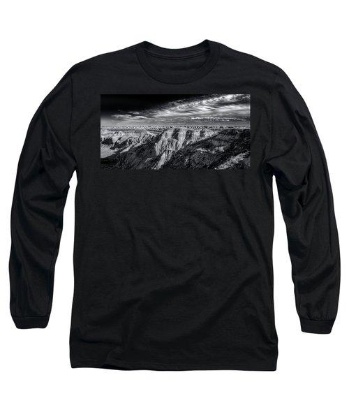 Long Sleeve T-Shirt featuring the photograph Alberta Badlands by Wayne Sherriff