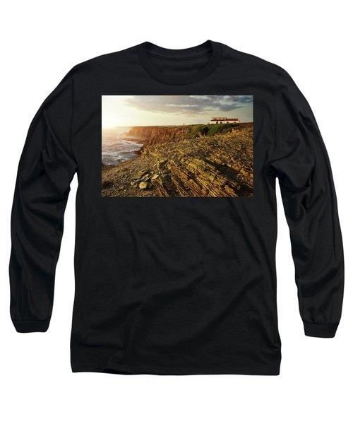 Long Sleeve T-Shirt featuring the photograph Alentejo Cliffs by Carlos Caetano