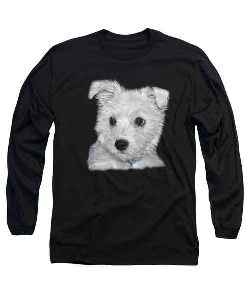 Alert Puppy On A Transparent Background Long Sleeve T-Shirt