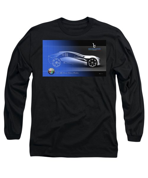 Alfa Romeo Bertone Pandion Concept Long Sleeve T-Shirt by Serge Averbukh