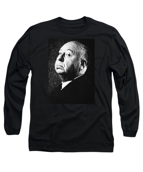 Alfred Hitchcock Long Sleeve T-Shirt by Taylan Apukovska
