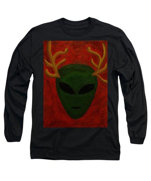 Alien Deer Long Sleeve T-Shirt by Lola Connelly