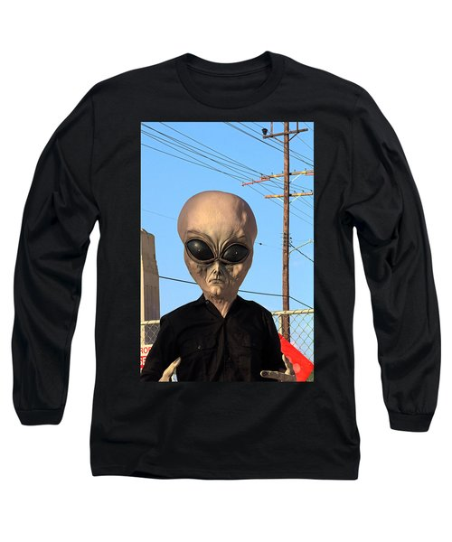 Alien Face At 6th Street Bridge Long Sleeve T-Shirt