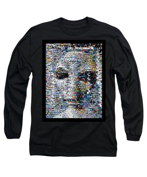Long Sleeve T-Shirt featuring the mixed media Alien Ufo Mosaic by Paul Van Scott