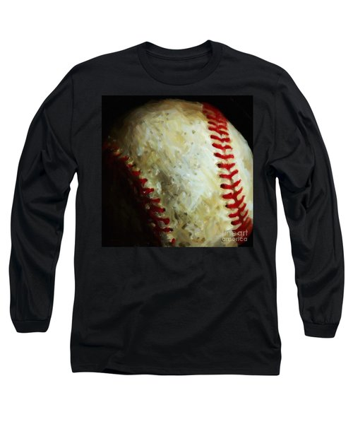 All American Pastime - Baseball - Square - Painterly Long Sleeve T-Shirt