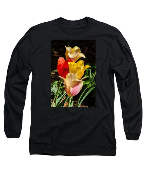 Long Sleeve T-Shirt featuring the photograph All In A Pretty Row by Jim Moore