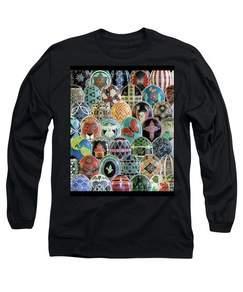 All Ostrich Eggs Collage Long Sleeve T-Shirt