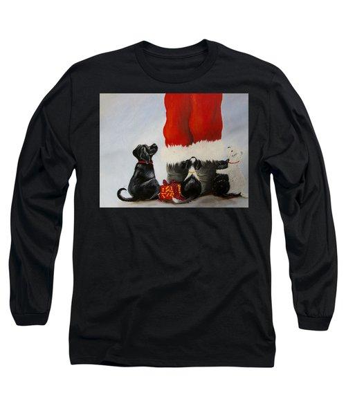 All The Fur Kids Love Santa Long Sleeve T-Shirt