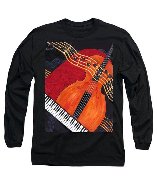 Long Sleeve T-Shirt featuring the painting Allegro by Karen Zuk Rosenblatt