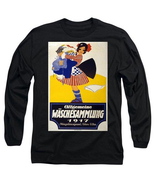 Allgemeine Waschesammlung 1917 - Vintage Clothing Advertising Poster Long Sleeve T-Shirt