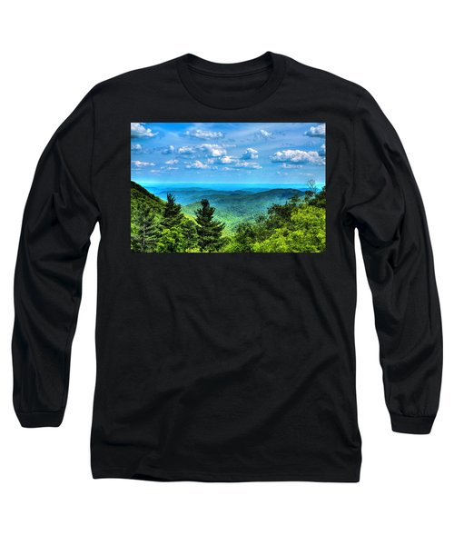Alligator Back Overlook Long Sleeve T-Shirt by Dale R Carlson