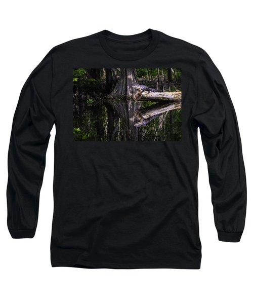 Alligators The Hunt, New Orleans, Louisiana Long Sleeve T-Shirt