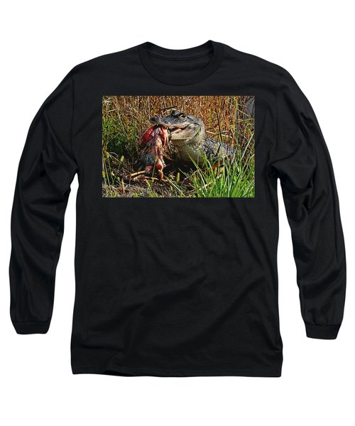 Alligator Eating A Fish Long Sleeve T-Shirt
