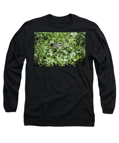 Alligator In Duck Weed, Louisiana Long Sleeve T-Shirt