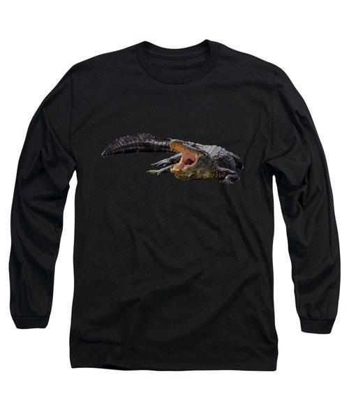 Alligator T-shirts Long Sleeve T-Shirt by Zina Stromberg