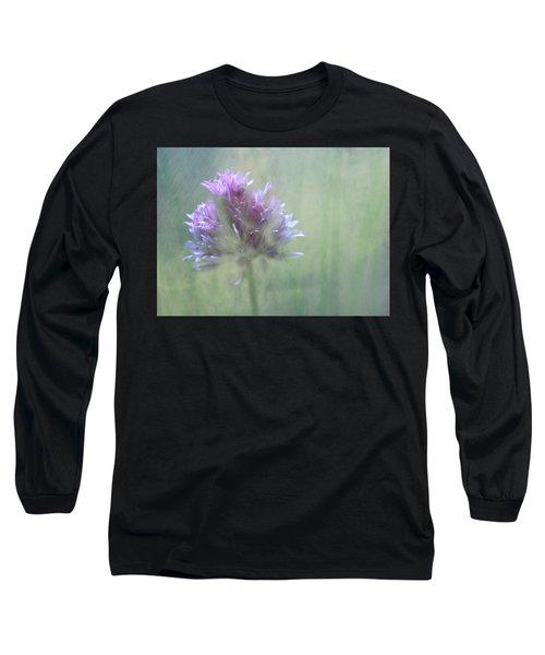Allium Impressionism Long Sleeve T-Shirt by Catherine Alfidi