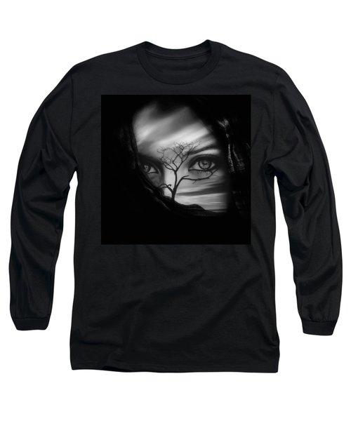 Allure Of Arabia Black Long Sleeve T-Shirt