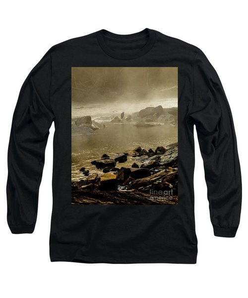 Long Sleeve T-Shirt featuring the photograph Alone In The Mist by Iris Greenwell
