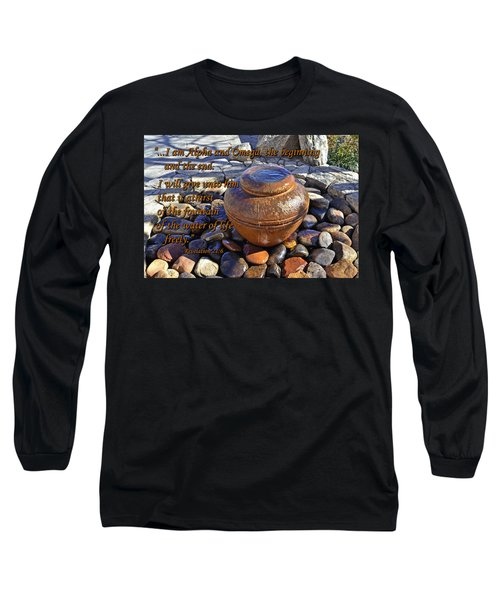 Alpha And Omega Long Sleeve T-Shirt by Larry Bishop