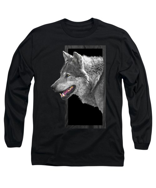 Alpha Male Wolf - You Look Tasty Long Sleeve T-Shirt by Gill Billington