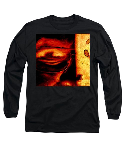 Altered Image In Red Long Sleeve T-Shirt by Dan Twyman