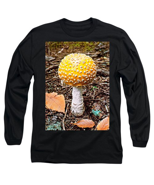 Long Sleeve T-Shirt featuring the photograph Amanita Mushroom Photo by Peter J Sucy