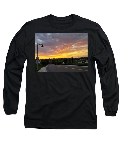 Colorful Sunset In Mission Viejo Long Sleeve T-Shirt