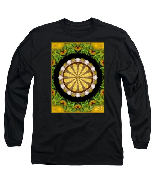 Amazon Kaleidoscope Long Sleeve T-Shirt by Debbie Stahre