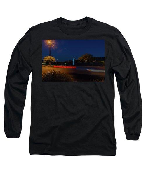 America At Night Long Sleeve T-Shirt