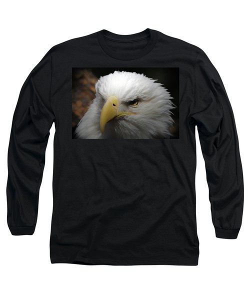 Long Sleeve T-Shirt featuring the digital art American Bald Eagle Portrait 3 by Ernie Echols