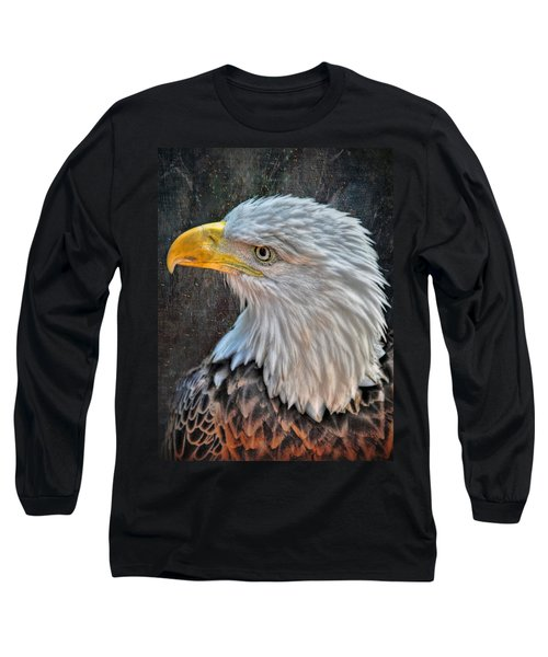 Long Sleeve T-Shirt featuring the photograph American Bald Eagle by Savannah Gibbs