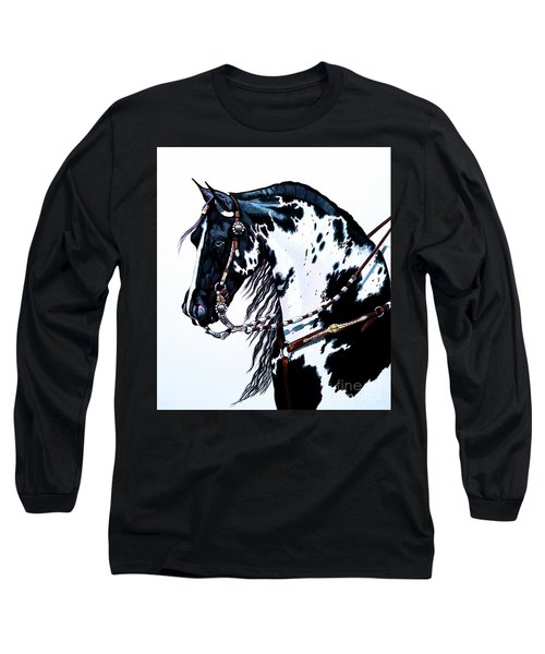American Black And White Paint  Long Sleeve T-Shirt