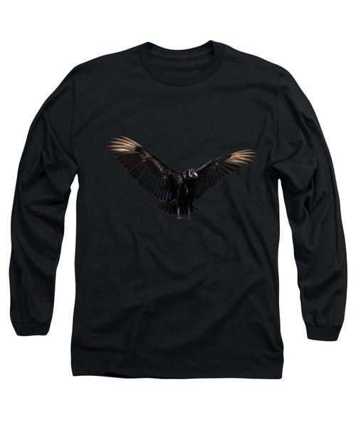 American Black Vulture Long Sleeve T-Shirt