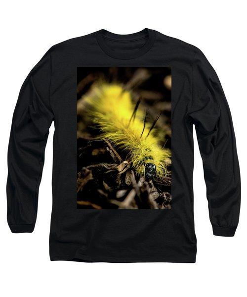 American Dagger Moth Caterpillar Long Sleeve T-Shirt
